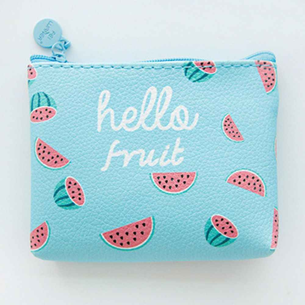 Animal bonito Dos Desenhos Animados de Frutas Coin Bolsas Sacos de Mulheres de Mini Carteiras Chave Titular de Cartão de Dinheiro Bolsa Meninas Bolsa