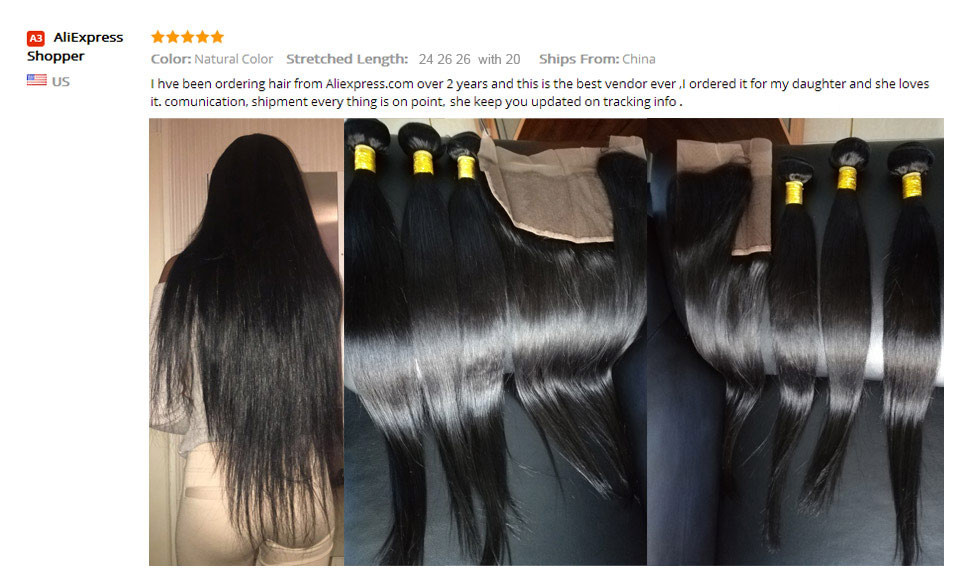 _03(2)  Ishow Hair Ear To Ear Lace Frontal Closure With Bundles Brazilian Straight Human Hair three Bundles With Closure Non Remy four Pcs/lot HTB1KD7oaTqWBKNjSZFAq6ynSpXaG