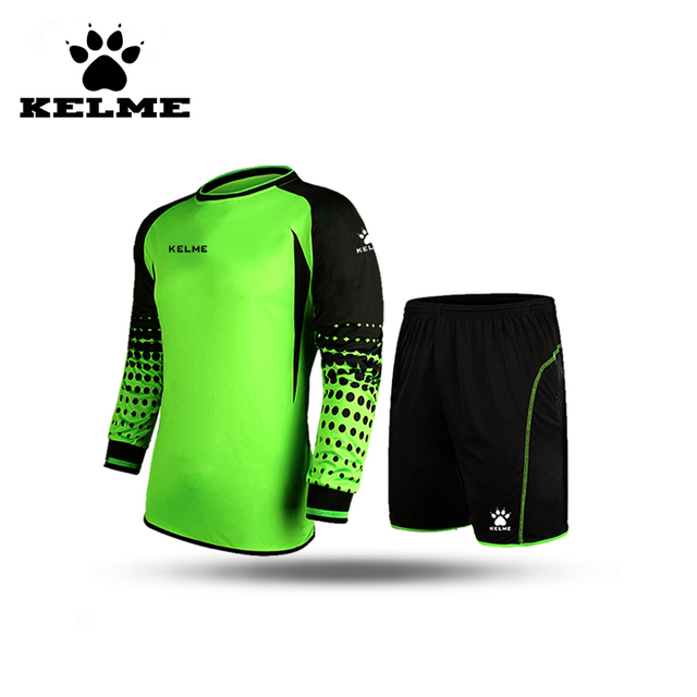 KELME Voetbal Keeper Tenue Customized Men Soccer Jersey Sport Training Pants Ropa De Futbol Para Hombre Sponge Protector Suit 28