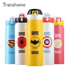 Superhéroe Superman Spiderman Termo Vacío de Acero Inoxidable Botella De Agua Divertida Para Niños Thermocup 350 ML Transhome