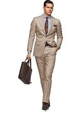 HOT SELLING 100% wool Hand made camel 2 pieces(jacket t+pants) two buttons notch lapel handmade man suit