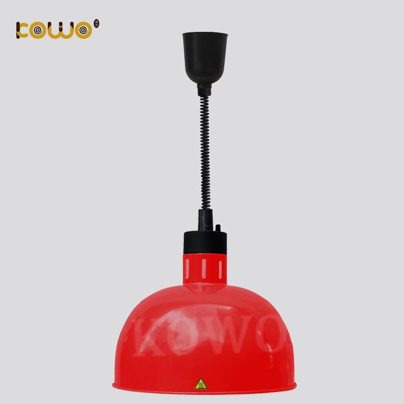 все цены на Commercial Electric Restaurant Buffet Machines 1 Bulb Hanging Food Warmer infrared Heat Lamp онлайн