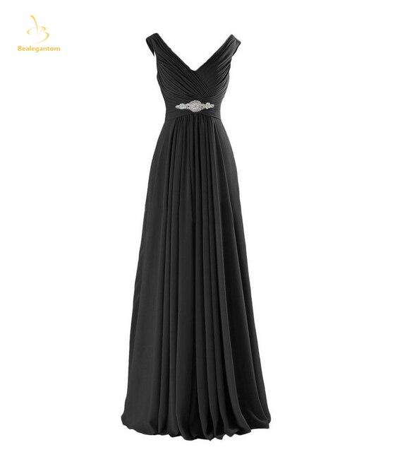 776680c7d995a Bealegantom New Elegant Long Chiffon Prom Dresses 2018 Beaded Formal  Evening Party Gowns Abendkleider Robe De Soiree QA1508