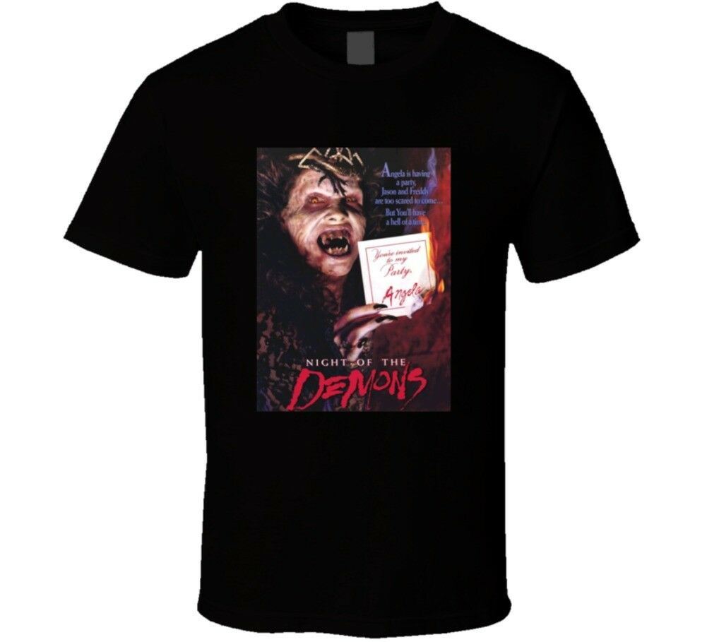 Night Of The Demons Classic 80s Horror Movie Poster T Shirt image