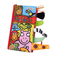 Jollybaby Animal Baby Toys Infant Kids Cloth Books Early Learning Education Unfolding Activity Story Book YJS Dropship