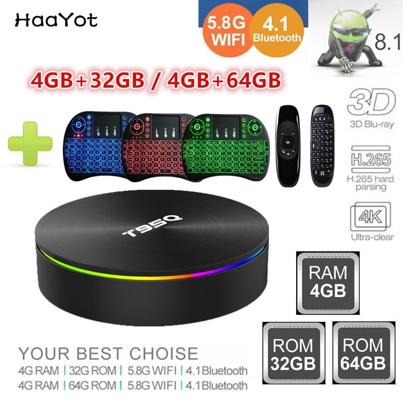 HAAYOT T95Q 9.0 Android TV Box procesor Amlogic S905X2 Quad Core 4 + 32G/4G + 64G h. 265 4K 2.4G i 5G WIFI 1000M inteligentny odtwarzacz multimedialny Set Top Box w Dekodery STB od Elektronika użytkowa na AliExpress - 11.11_Double 11Singles' Day 1