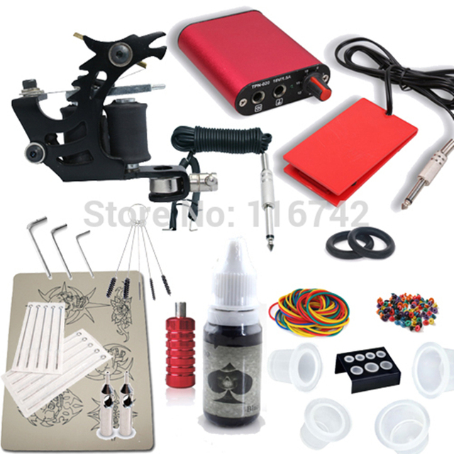 Tattoo Starter Kit Machine Guns color inks Supply Set Equipment