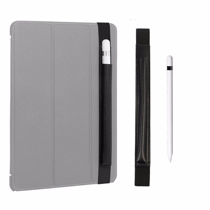 Tablet Pencil Pouch Case Bag Leather Sleeve Tablet Pen Protective Cover For iPad Pro 12.9inch For Apple Pencil Tablet Black for ipad pro 12 9 inch case sleeve esr protective carrying bag with back pocket pencil holder pouch for ipad pro 12 9 2015 2017