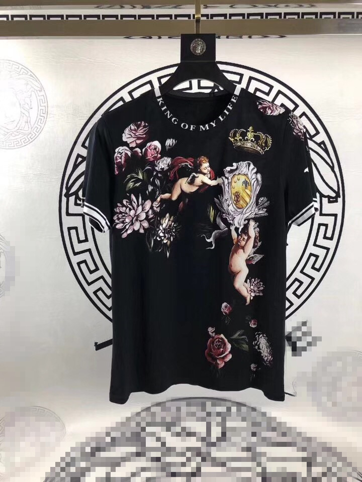 fac325502 US $69.02 L0119 Fashion Men's Tops & Tees 2019 Runway Luxury Brand European  Design Short O neck Print party style T Shirts Men's Clothing-in T-Shirts  from ...