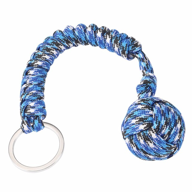 Monkey Fist Steel Ball Outdoor Security Protection Bearing Self Defense Lanyard Survival Tool Key Chain Multifunctional Keychain 2