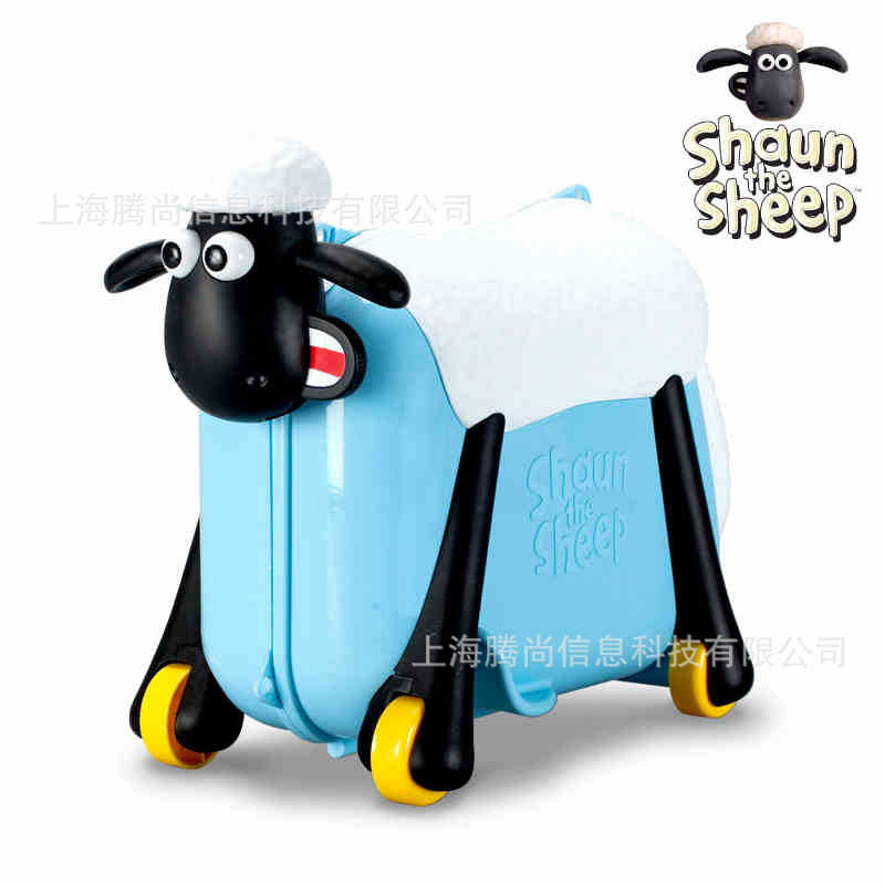 Shaun the Sheep Riding suitcase luggage bag  suitcase  ride childrens toy cartoon Shaun the Sheep Riding suitcase luggage bag  suitcase  ride childrens toy cartoon