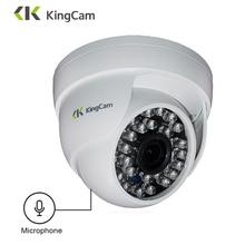 KingCam 1080P Audio Domo IP cámara con micrófono 2MP seguridad interior ipcam día/noche CCTV ONVIF cámaras de vigilancia