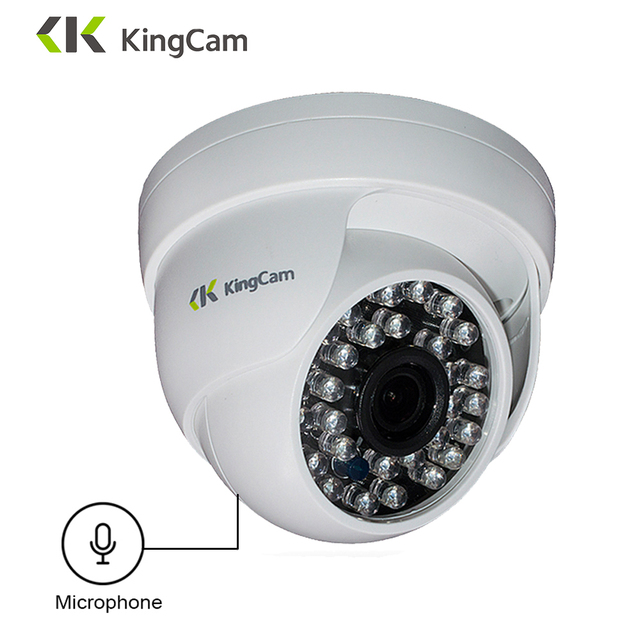 KingCam 1080P Audio Dome  IP Camera with Microphone 2MP Security indoor ipcam Day/Night CCTV ONVIF  Surveillance Cameras