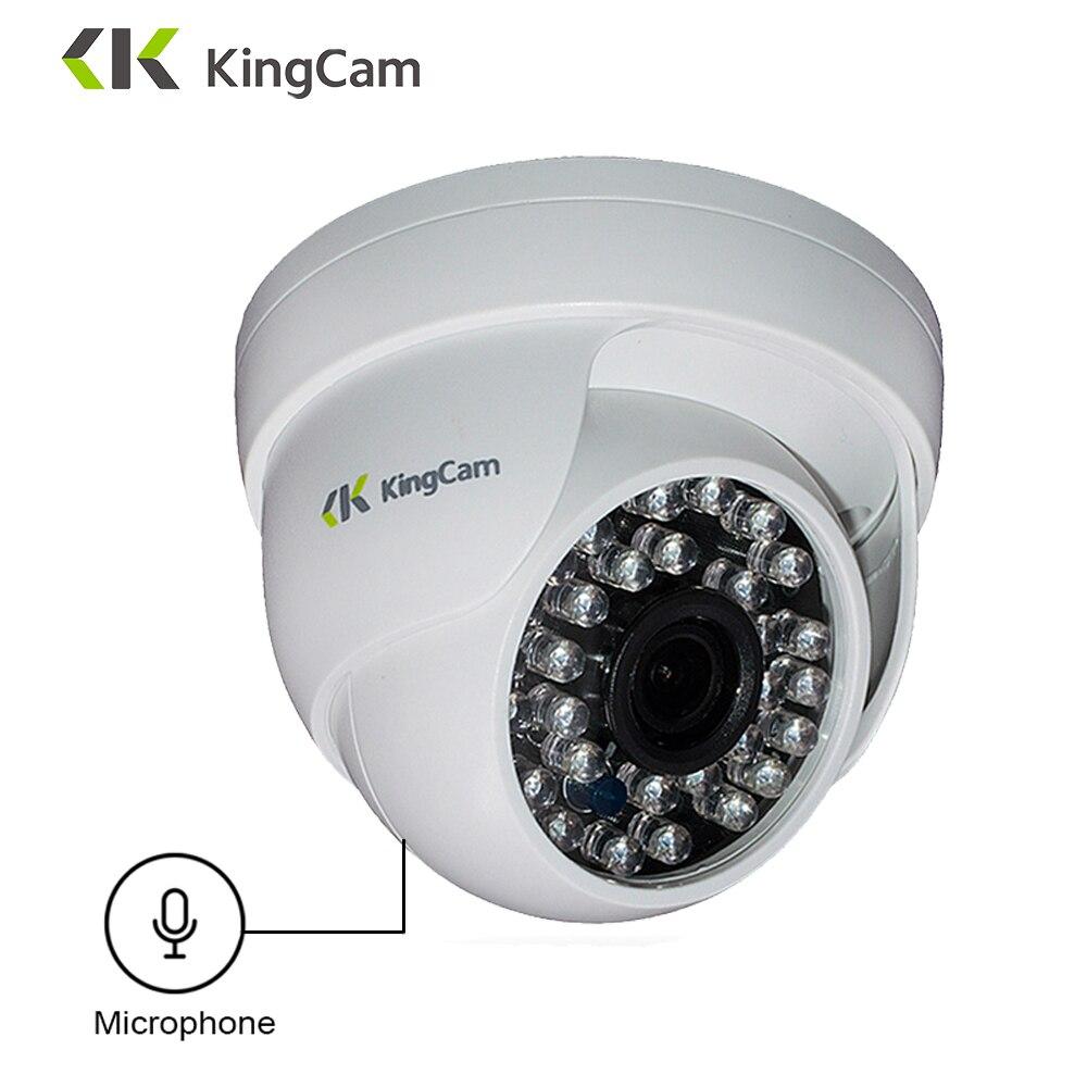 KingCam 1080P Câmera Dome IP com Microfone de Áudio 2MP Segurança indoor ipcam Dia/Noite CCTV Câmeras de Vigilância ONVIF
