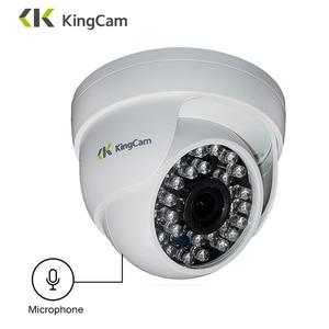 Image 1 - Купольная ip камера KingCam 1080P с микрофоном, 2 мегапиксельная купольная камера безопасности для помещения, ipcam, дневное/ночное видеонаблюдение, ONVIF, камера видеонаблюдения s