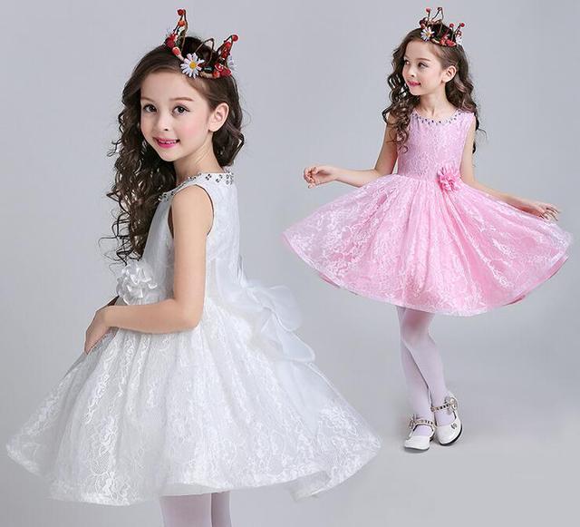 Glizt Ragazze Abito Da Sposa Paillette Bambini Di Compleanno Vestiti Del  Bambino Delle Ragazze Bianco  f9fa8a62941