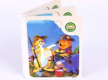 Exempt postage, wooden puzzles, cartoon animal books are made of wood, childrens educational toys