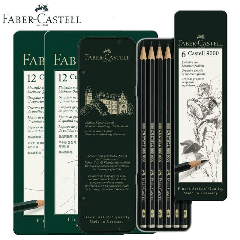 Faber Castell Pitt Crayons Pastel 12 Couleur Étain.