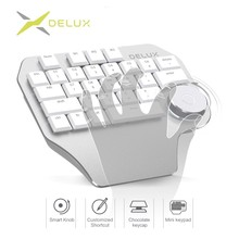 Delux T11 Designer Keyboard with Smart Dial 3 Group Customizable Keys Keypad Compatibility for Wacom Windows Mac Design Software