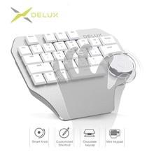 Delux T11 дизайнер клавиатура с интеллектуального набора 3 группы настраиваемые клавиши клавиатуры Совместимость для Wacom Windows, Mac разработки программного обеспечения
