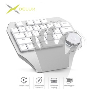 Image 1 - Delux T11 Designer Keyboard with Smart Dial 3 Group Customizable Keys Keypad Compatibility for Wacom Windows Mac Design Software