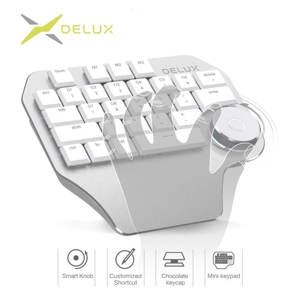 Delux T11 diseñador teclado inteligente Dial 3 Grupo de llaves teclado compatibilidad para Wacom Windows Mac Software de diseño