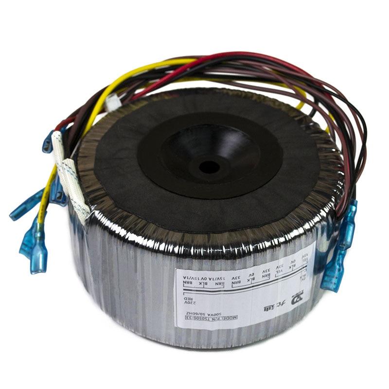500W Toroidal Transformer AC220V Output: Double 33V*2 + Single 15V Pure Copper Wire High Power Power Supply output ac 0 6 3v 12v 24v 36v single phase control transformer 25va toroidal transformer