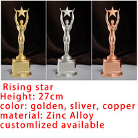 Champions League Trophy Souvenir Oscar Rising Star Award Logo Can Custom Made