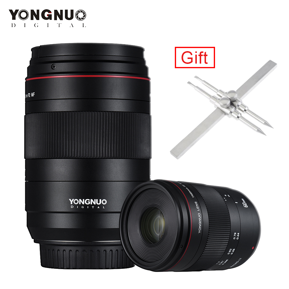 YONGNUO YN60mm Lentille F2 MF 0.234 m Mise Au Point Manuelle Macro 60mm Lentille pour Canon EOS 70D 5D2 5D3 600D DSLR Camera Lens