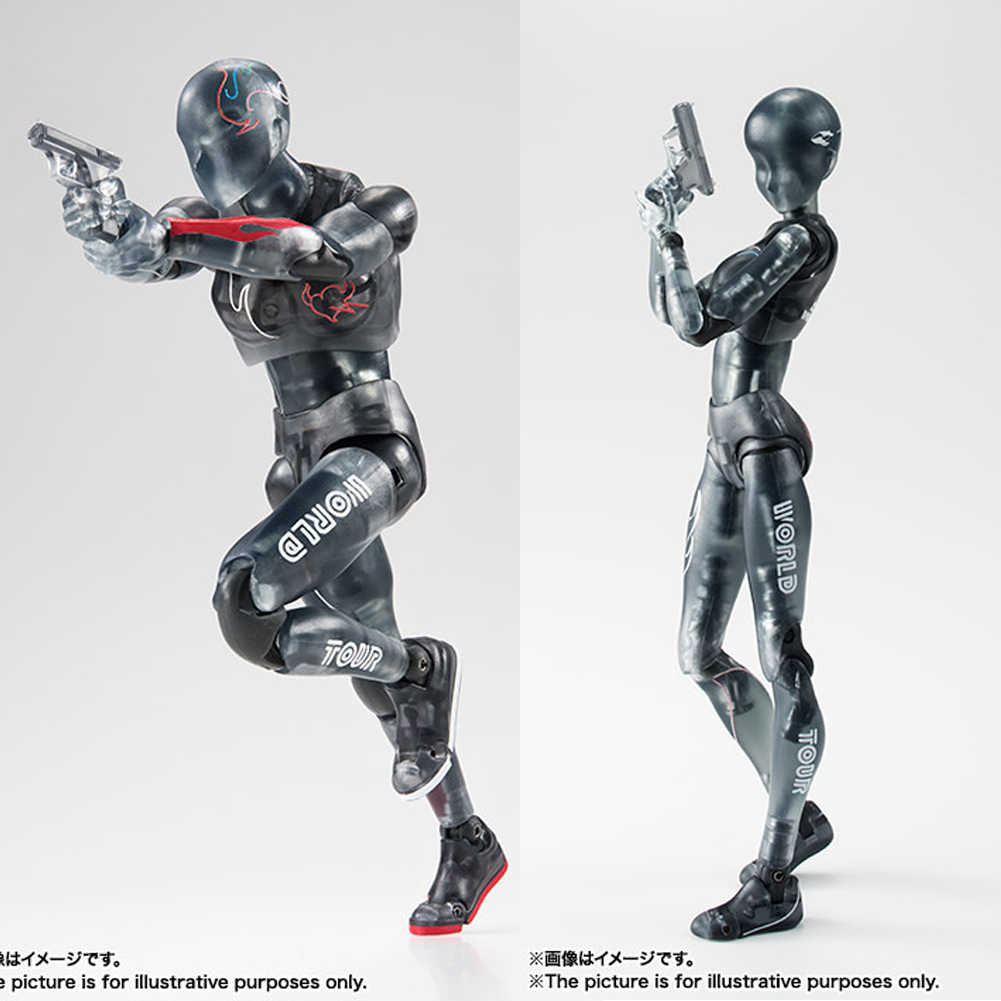 Original Turnê Mundial CORPO KUN & CORPO CHAN BJD Cor Transparente Preto Ver. PVC Action Figure Collectible Modelo Toy