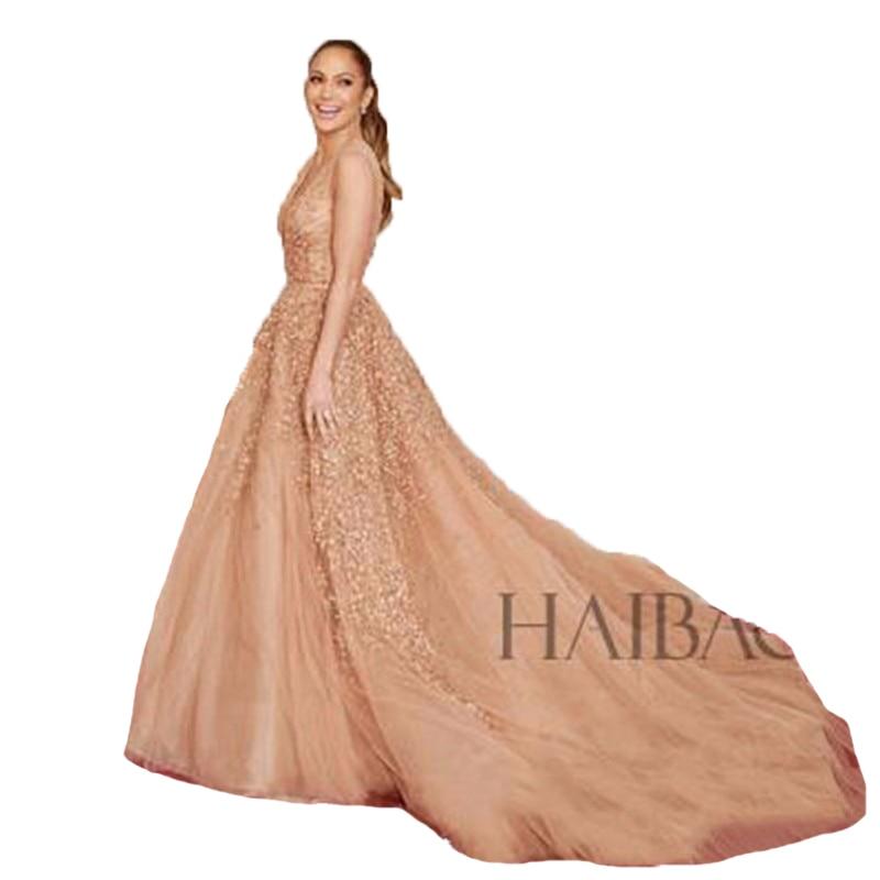 Jennifer Lopez Dress Celebrity Ball Gown Evening Dresses Long ...