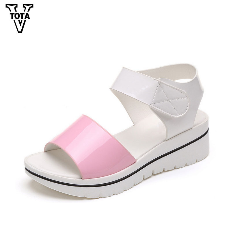 New Summer Women's Sandals Platform Soft Shoes Woman Wedges Sandals Women Open Toe Ladies Shoes For Daily Sandalias HPL01 2017 gladiator summer shoes woman platform sandals women flats soft leather casual open toe wedges sandals women shoes r18