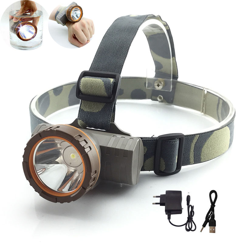 Built-in Battery Powerful Headlamp LED Head Flashlight Portable High Power Light Forehead Lamp Head Fishing Camping Headlight high quality 2 mode power 5w led headlight 48000lx outdoor fishing headlamp rechargeable hunting cap light