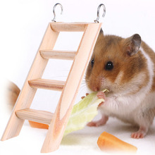 Wood Small Animal Toys Hamster Chew Toys Wooden Hanging Climbing Ladder For Small Pet Mouse Rat Mice Exercise Supplies Drop Ship