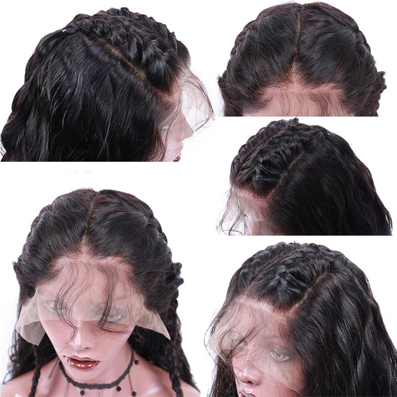 Wig Trupi prej 360 Lace me Parafjalë Trupi Wave Dantel Paruke me - Flokët e njeriut (të zeza) - Foto 2