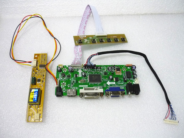 (HDMI+DVI+VGA+Audio)LCD Driver Controller Board Kit for Panel B121EW03 V.0 V.1/V.2/V.3/V.4/V.5/V.6/V.7 1280*800