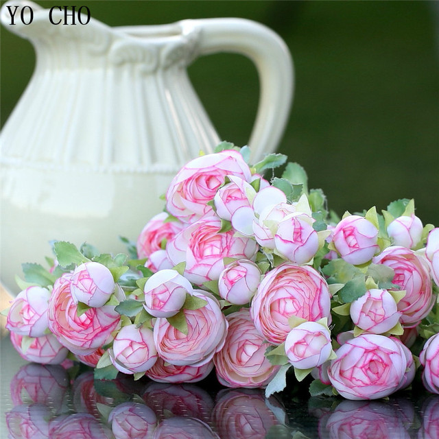 Milk white rose tea buds bouquet pearl bridal flowers artificial milk white rose tea buds bouquet pearl bridal flowers artificial peony silk flower weddding party decor mightylinksfo Image collections