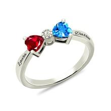 цены на AILIN Personalized Engraved Love Heart Ring Bow Birthstone Ring for Her White Gold Color  в интернет-магазинах