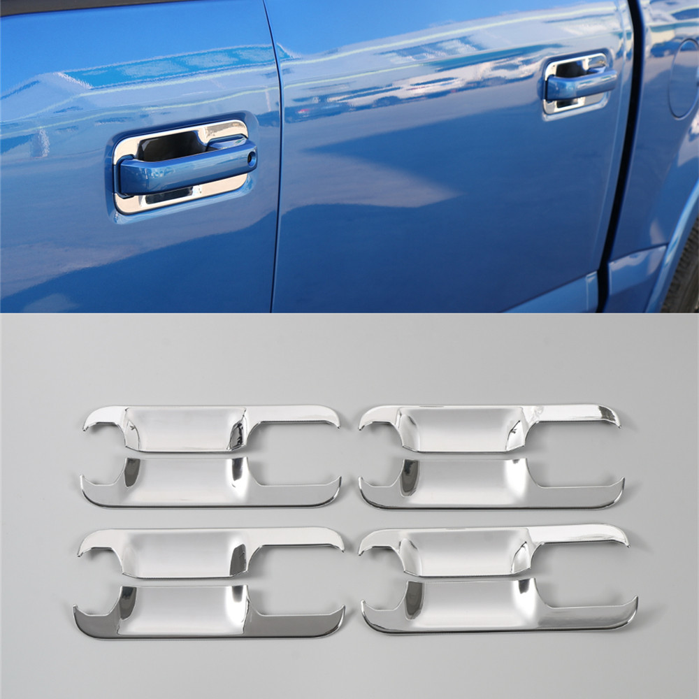 8pcs abs chrome door handle bowls cover trim for ford f150 f 150 2010 2011