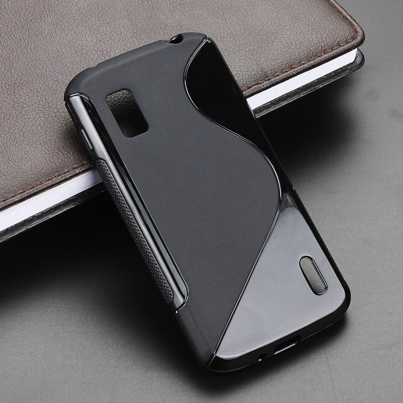 2015 S Line Gel TPU Slim Soft Anti Skiding Case Back Cover For LG Optimus G E975 E973 Mobile Phone Rubber Silicone Skin Cases