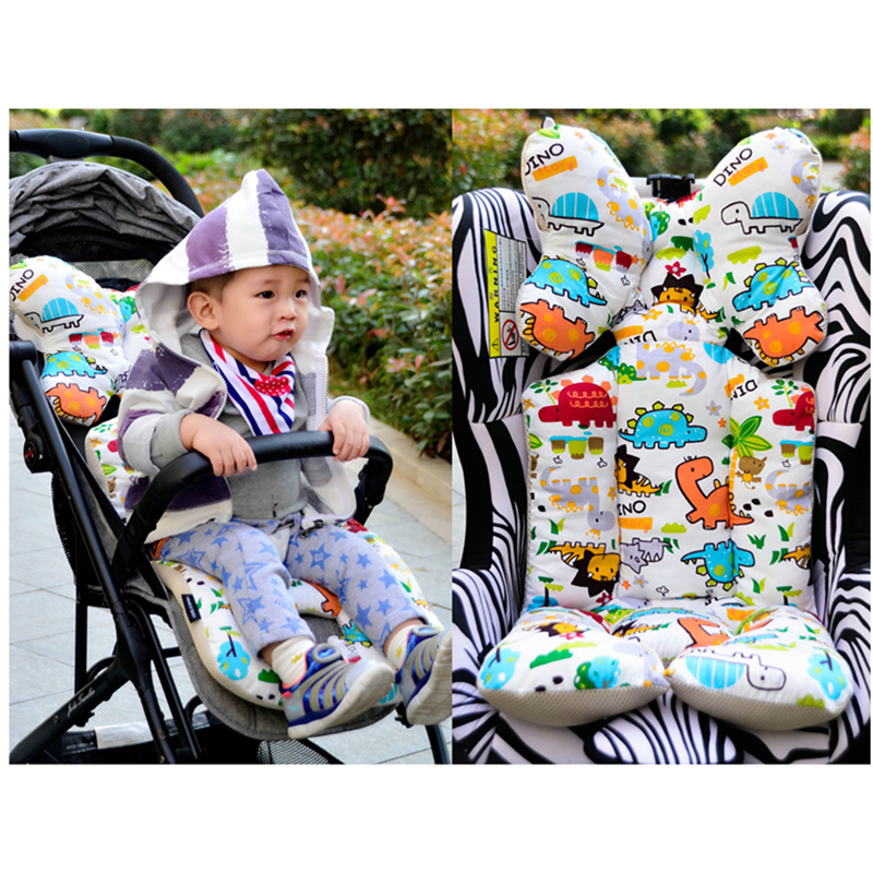 Baby Stroller Cushion Cartoon 2 Sides Soft Seat Pad Mattress Mat Toddler Wheelchair Accessories Pram Trolley Thick Pad Cart Cove Activity & Gear Mother & Kids