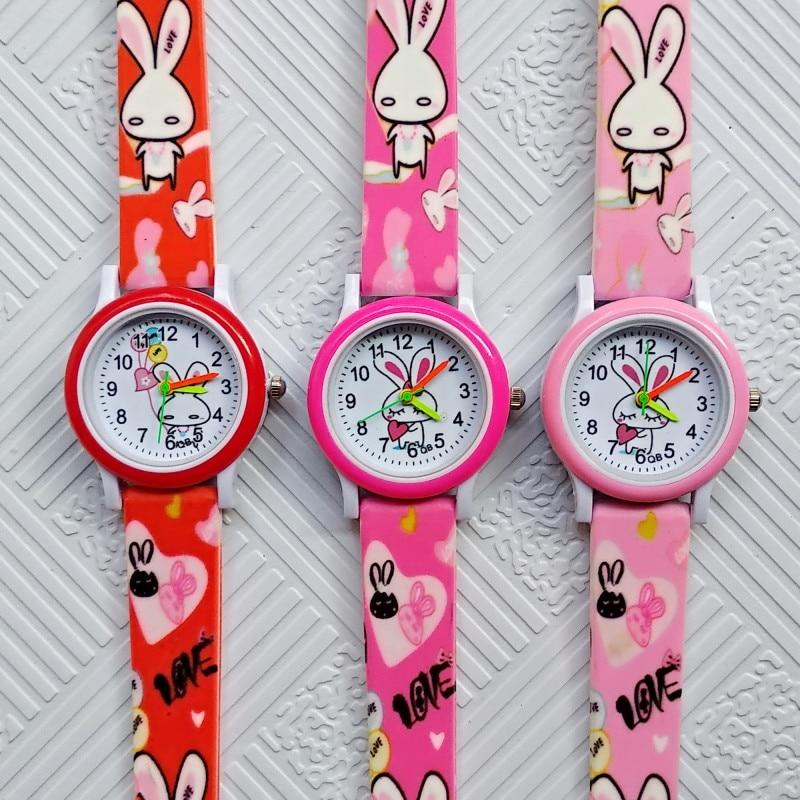 Fashion Casual Children's Watches White Rabbit Children Watch Boys Girls Clock Baby Gift Kids Digital Electronic Quartz Watch