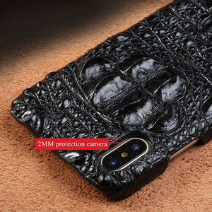 Image 3 - 100% ของแท้หนังจระเข้สำหรับiPhone XR 12 Mini 12 Pro 11 Pro Max X XS Max 6S 6 7 8 Plus 5S SE 2020 Luxury Cover