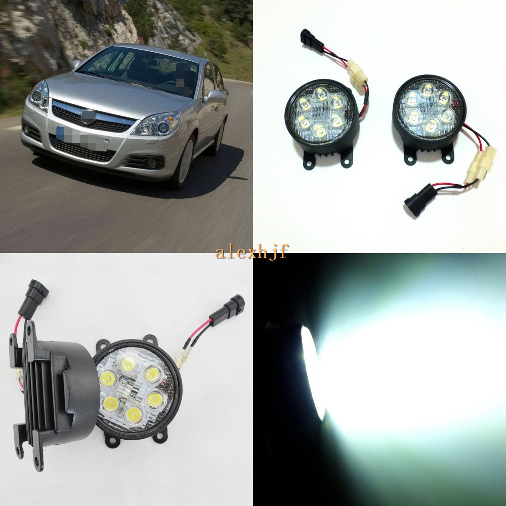July King 18W 6LEDs H11 LED Fog Lamp Assembly Case for Opel Vectra C 2005~2008, 6500K 1260LM LED Daytime Running Lights