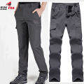 mens Soft shell tactical pants scratch resistant, water-resistant, wear-resistant Fast Drying fleece warm men casual cargo pant