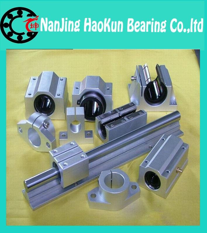 ФОТО  SBR20 L 700mm linear shaft rail support with SBR20UU motion auminum bearing sliding block router part