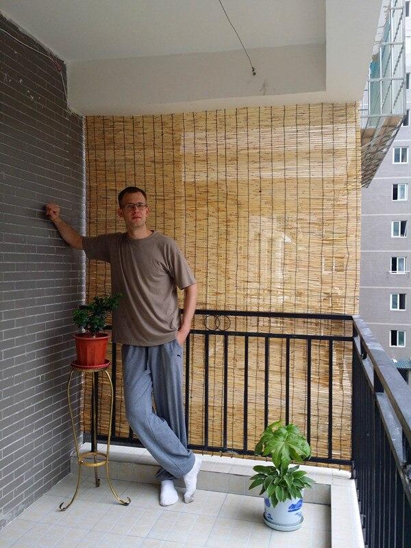 bas prix naturel balcon decore avec imitation bambou rideau ombre paille rideau roseau roseau rideau rouleau