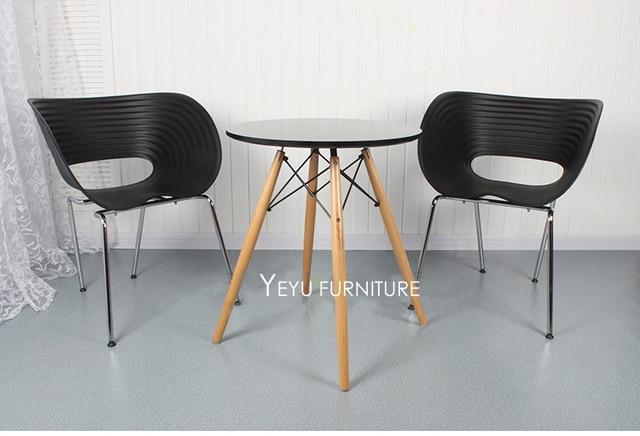 Modernes Design Kunststoff Und Metall Mode Klassische Design Stuhl,  Beliebte Esszimmer Sessel, Stapelbar Kaffeestuhl