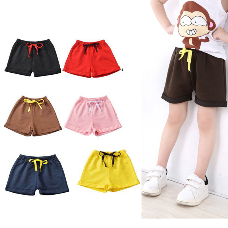 Summer Children Boy   Shorts   Cotton Soild   Shorts   for Boys Girls Sport   Shorts   Boys Beach   Shorts   Kids Toddler Casual Pants