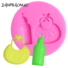 DANMIAONUO 3D Bottle Shape Cupcake Mold Food Grade Chocolate Silicone Icing Fondant Tools Kitchen Baking Accessories A89725